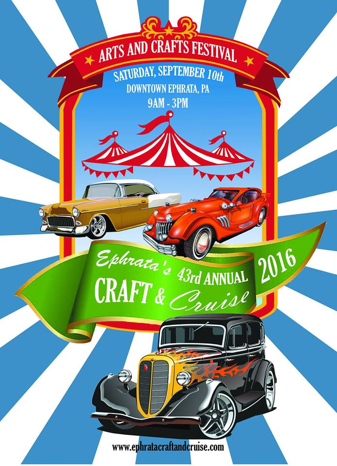 Ephrata's 43rd Annual Craft and Cruise Arts and Crafts Festivals Poster