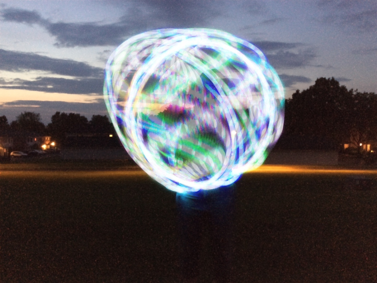 Hooping using the smear move during a long LED exposure.