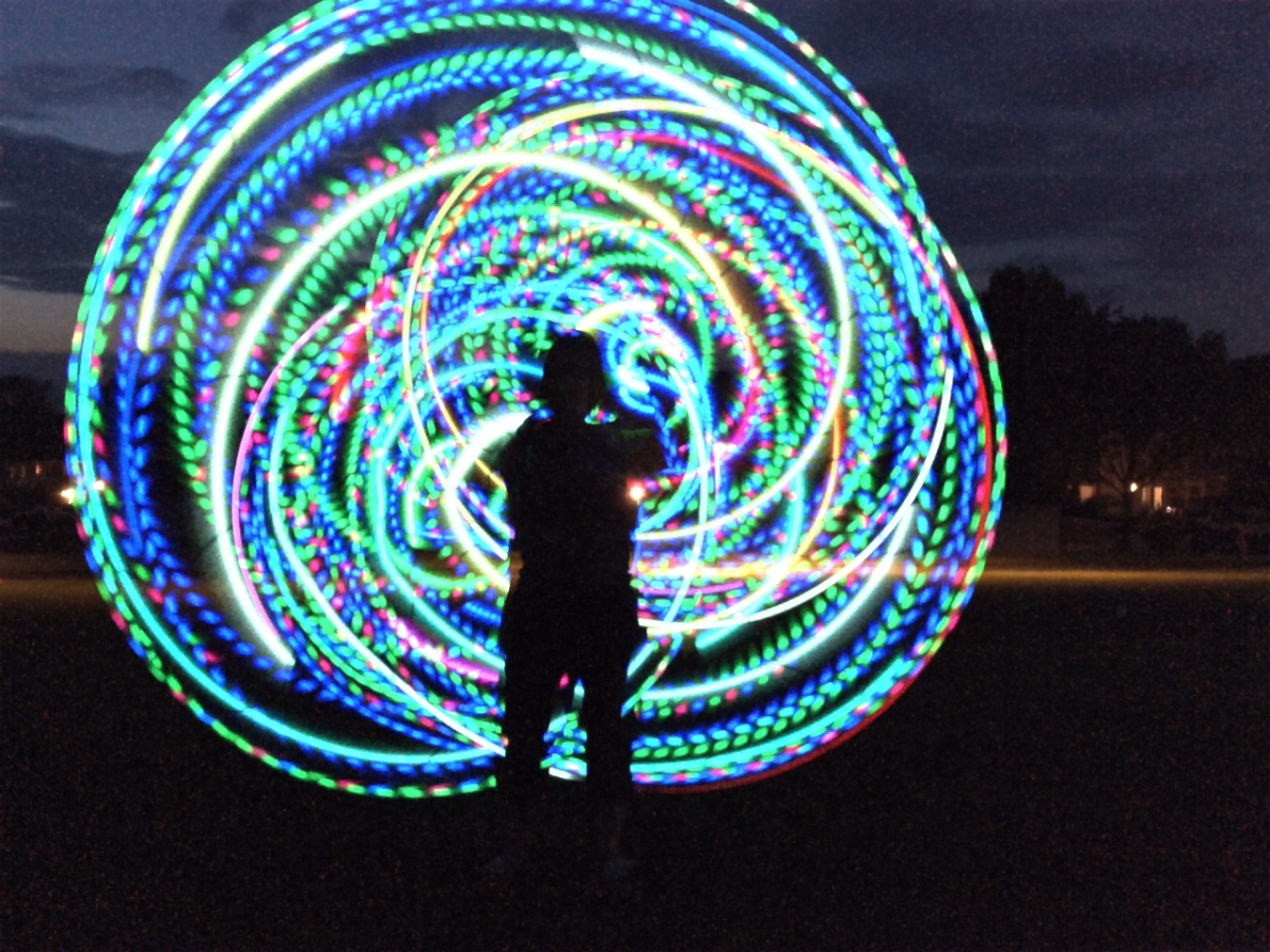My favorite! LED Hooping Light Trails doing a full body wrap