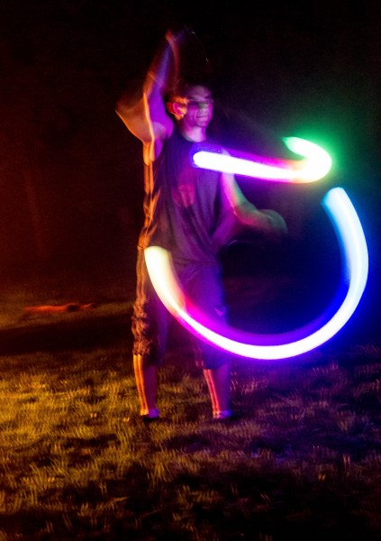 Sterling and his LED poi