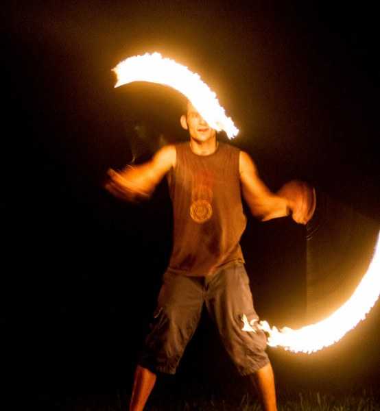 Sterling and his fire poi