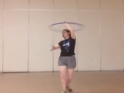 Me hooping at the Ephrata Rec Center