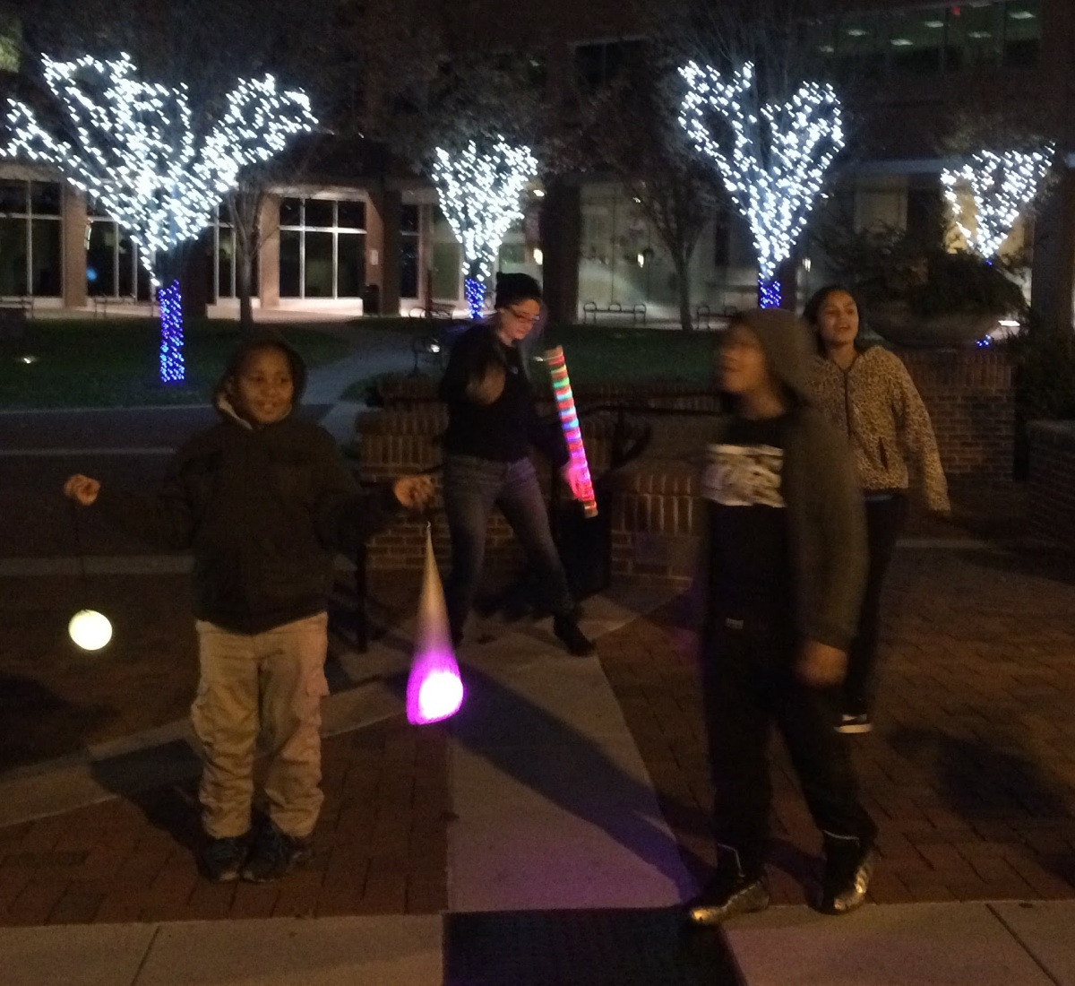 Kids testing out poi in Lancaster, PA, USA.