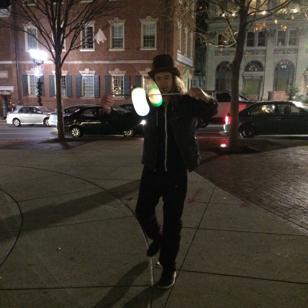 Chris Tamburro and his LED Poi