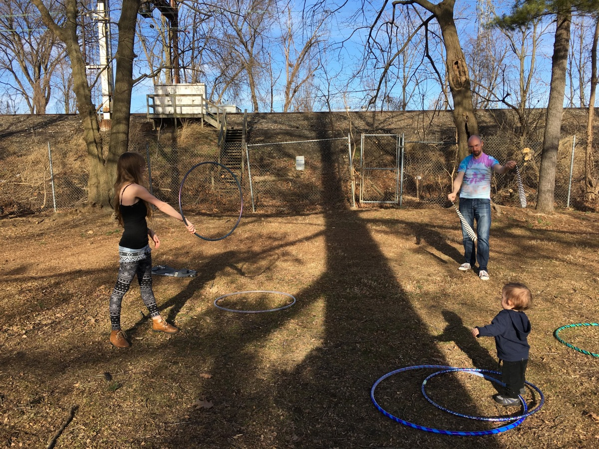 Hooping and Poi at Long's Park in Lancaster, PA, USA